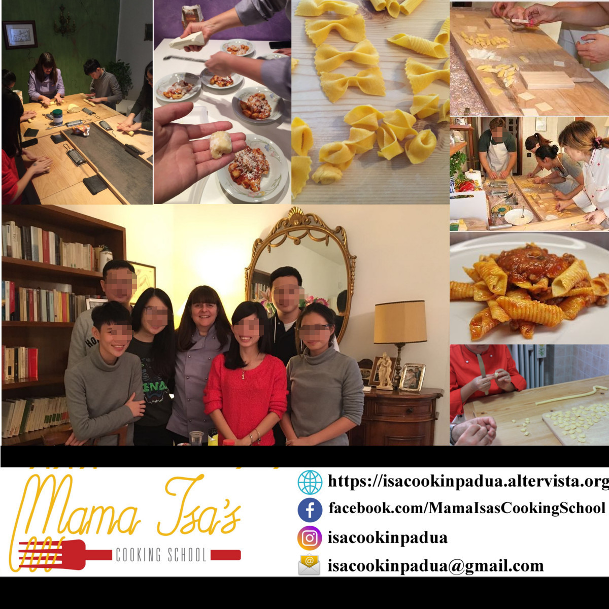 3 day cooking course in Italy near Venice with Mama Isa