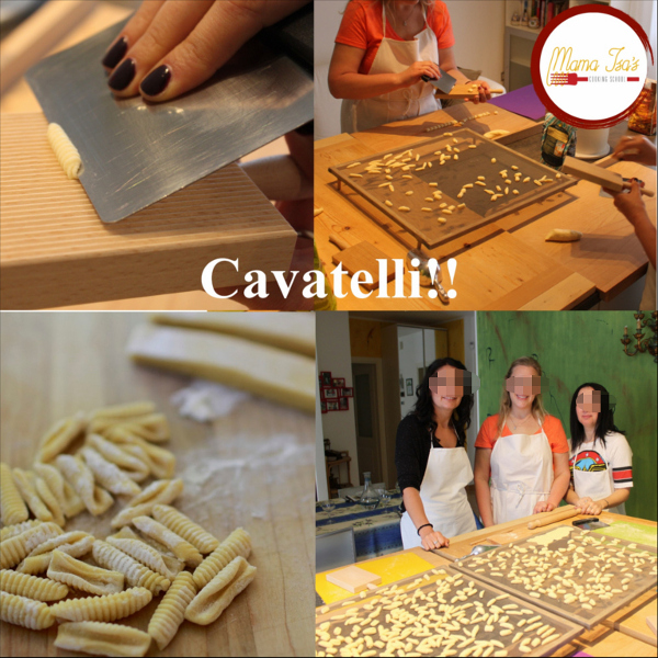 Cavatelli Pasta at Mama Isa's Cooking School in Padua near Venice Italy