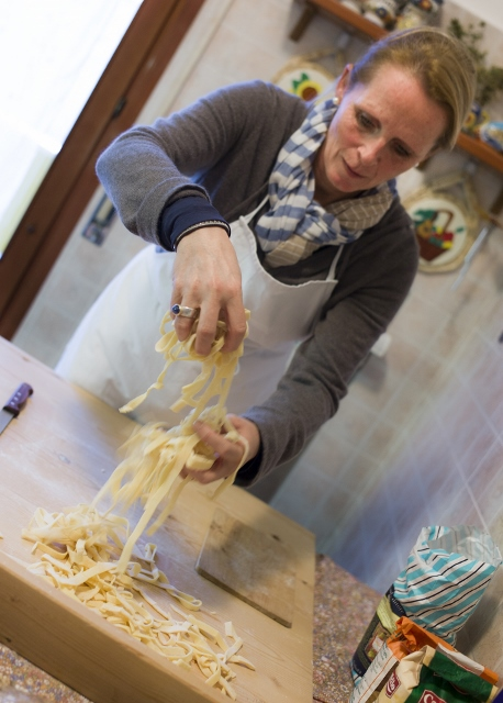 Pasta Workshop in Italy, near Venice, Padova with Mama Isa