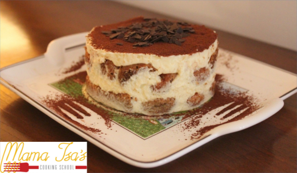 Tiramisu at Mama Isa's Cooking Classes Italy Venice