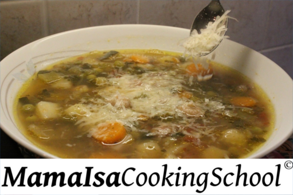 Classic Minestrone at Mama Isa's Cooking Classes Venice Italy