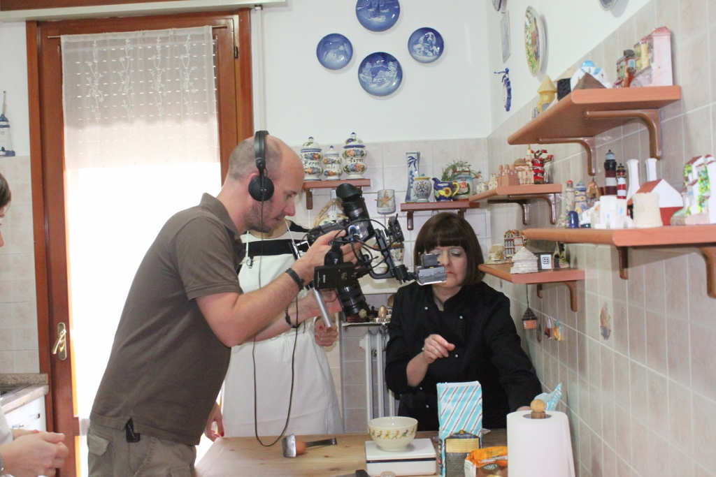 German TV filmed a documentary about the art of fresh pasta making at Mama Isa's Cooking School