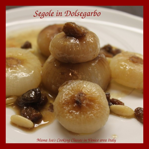 Vegetarian Cooking Classes in Italy near Venice: Sweet and sour onions