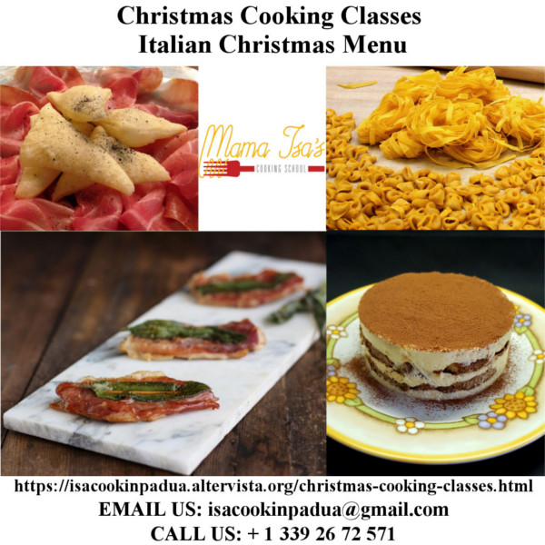 Christmas Cooking Classes to Mama Isa's Cooking School in Italy near Venice