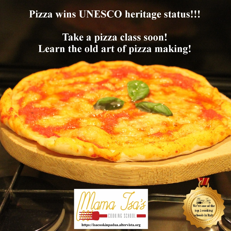 Pizza wins Unesco World Heritage Status - Pizza Class at Mama Isa's Cooking School Italy Venice