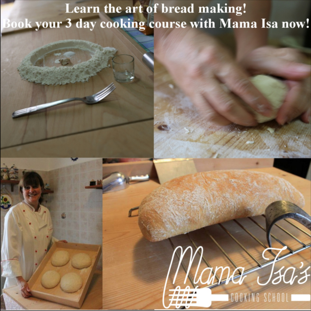 Bread Making - Cooking Vacations in Italy near Venice with Mama Isa Padova