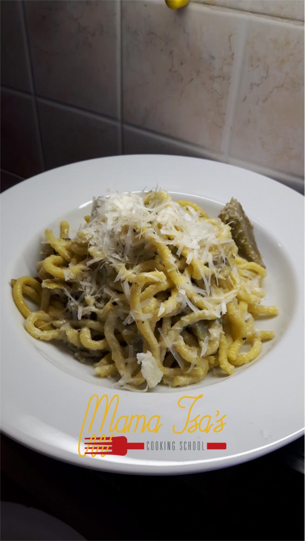 Bigoli at Mama Isa Cooking Classes in Italy near Venice
