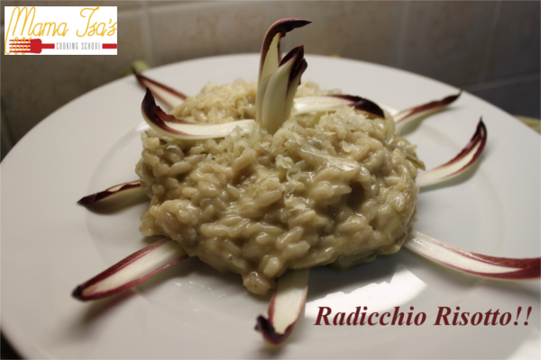 Radicchio Risotto at Mama Isa's Cooking Classes in Italy near Venice