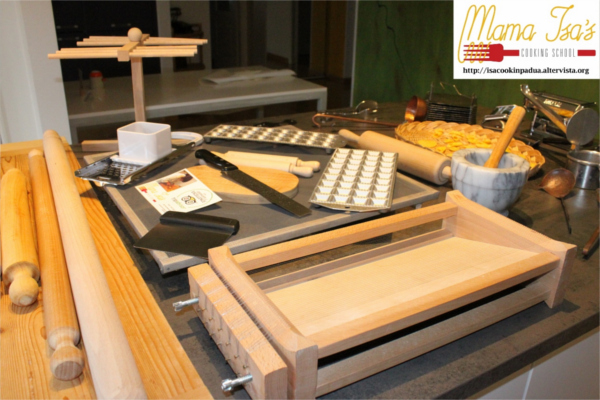 Mama Isa's Cooking Classes in Venice area Italy - Pasta Maker's Equipment