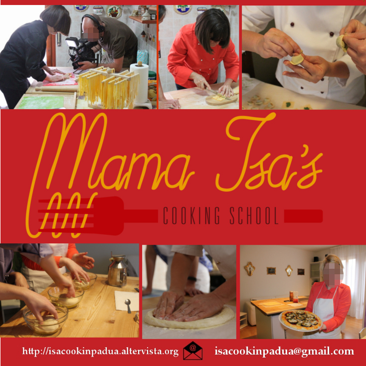 Cooking Vacations in Italy for 3 days with Mama Isa at Mama Isa's Cooking School near Venice Padua