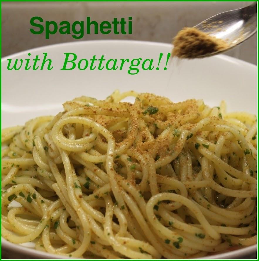 Spaghetti with Bottarga at Mama Isa's Cooking Classes near Venice Italy