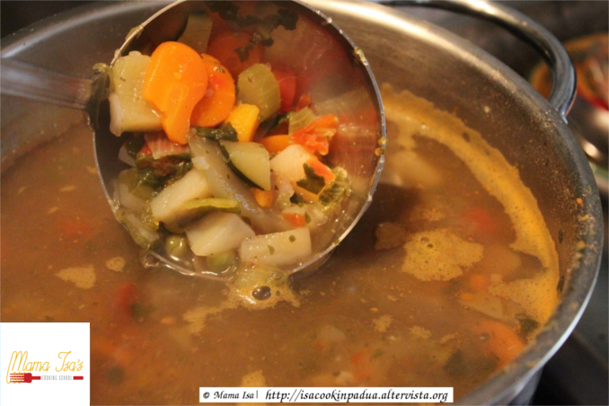 Classic Minestrone at Mama Isa's Cooking Classes in Venice Italy
