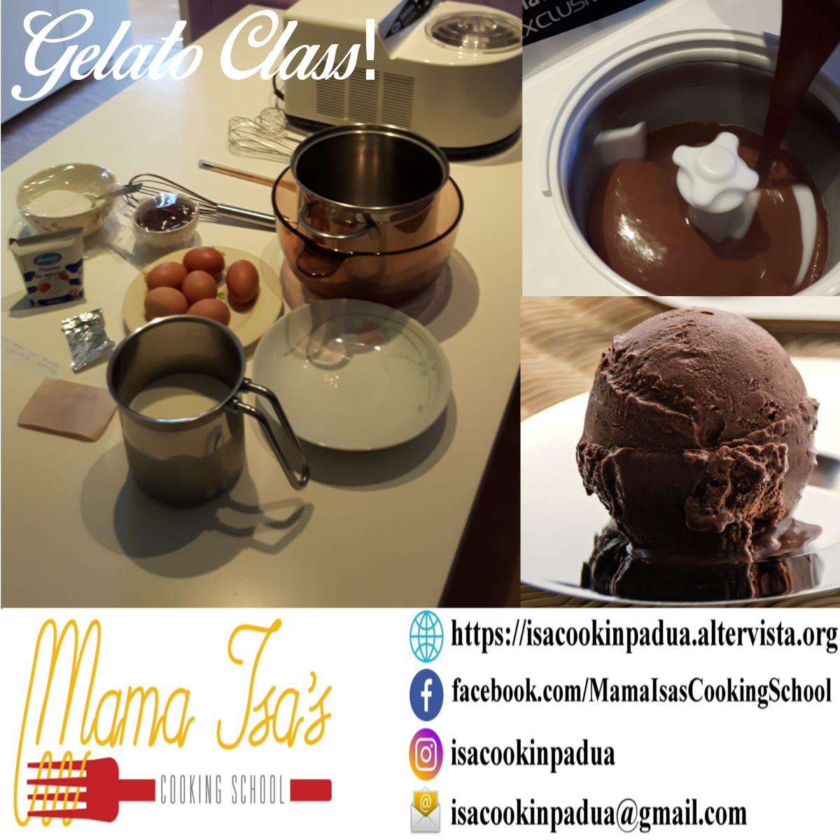 Artisanal Gelato Class in Italy near Venice with Mama Isa