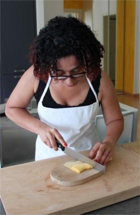 Cutting Fresh Pasta By Hand
