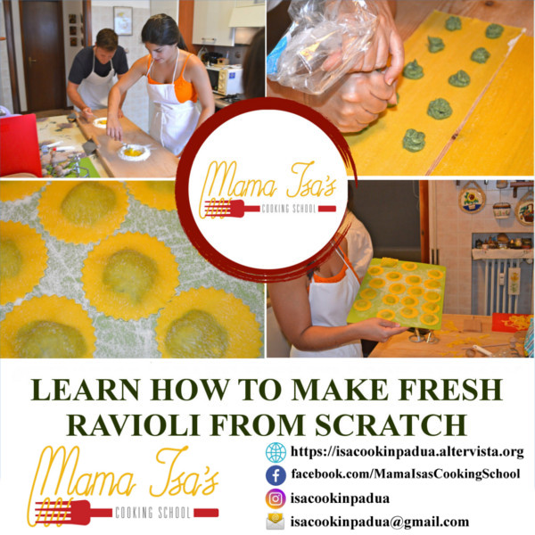 Ravioli Class at Mama Isa's Cooking School in Italy near Venice