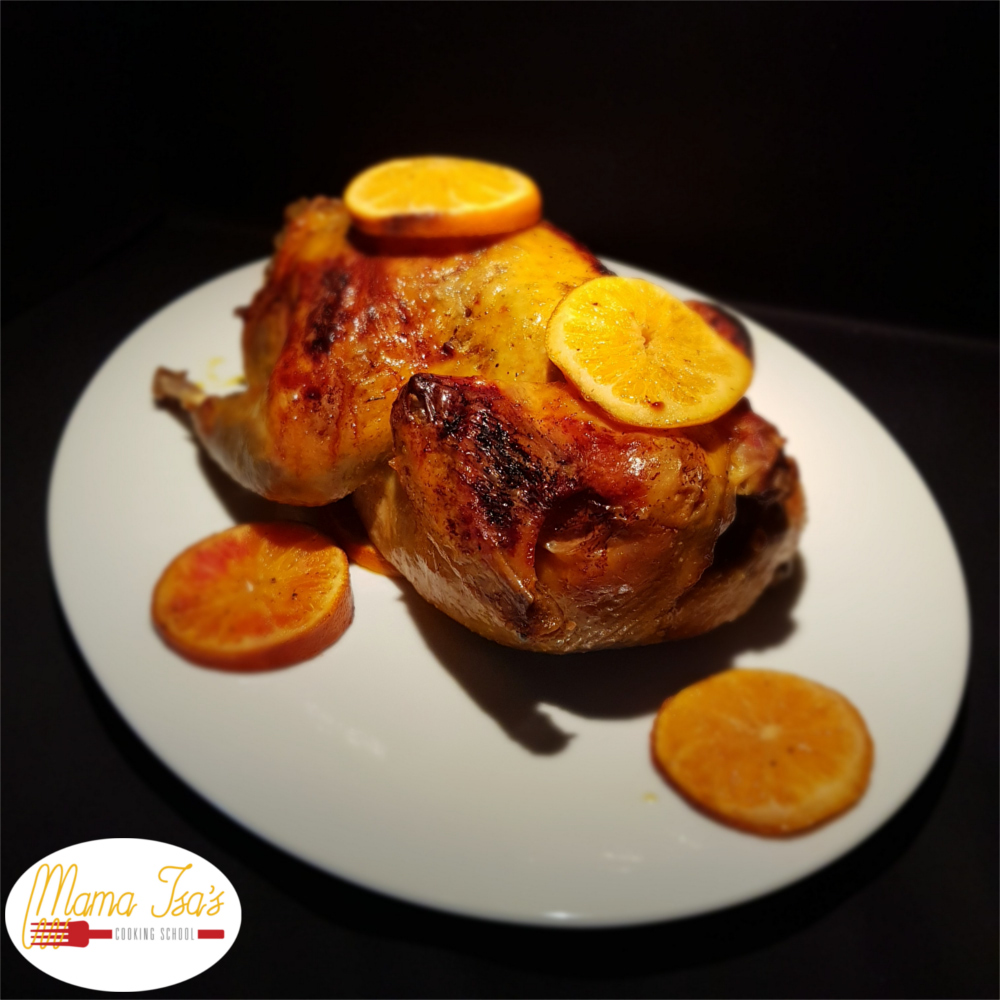 Stuffed and Roasted Guinea Fowl