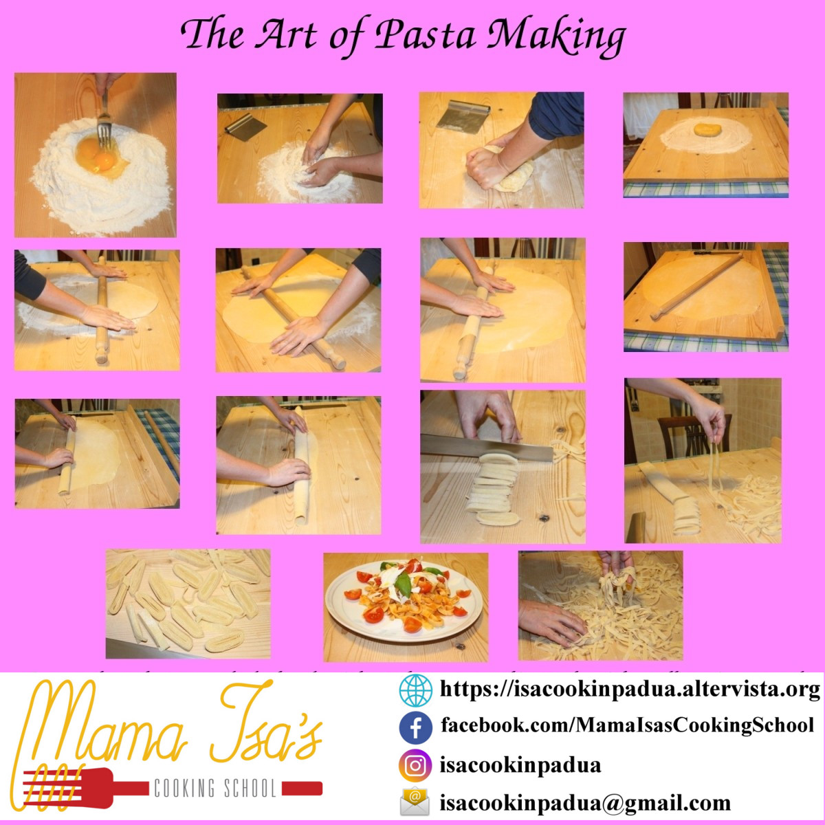 The Art of Pasta Making in Italy, near Venice, Padova with Mama Isa