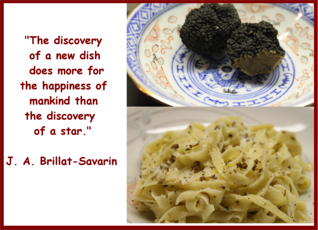 Balck Truffles at Mama Isa's Cooking Classes near Venice in Italy