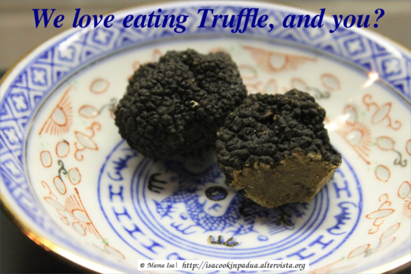 Black Truffles at Mama Isa's Cooking Classes near Venice in Italy