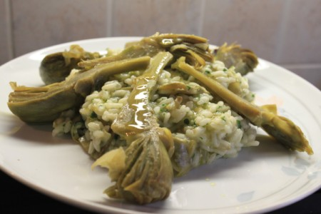 Vegetarian Cooking Classes in Italy near Venice: Risotto with Artichokes