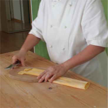Cutting Pasta By Hand