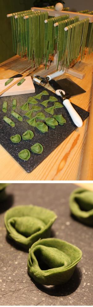 Spinach-Colored Fresh Pasta