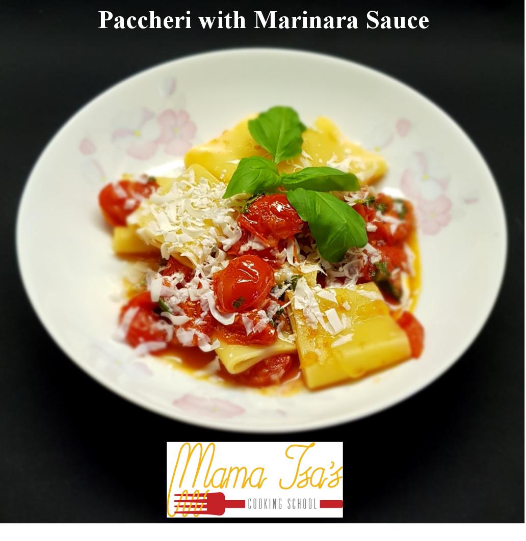 Paccheri with Marinara Sauce