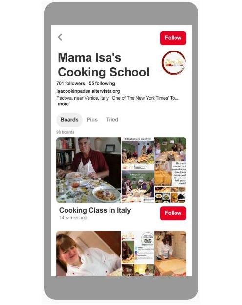 Mama Isa's Cooking School Pinterest