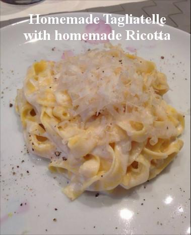 Homemade Fettuccine and Homemade Ricotta