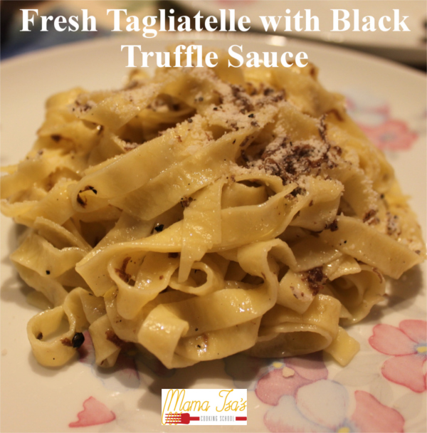 Black Truffle Fettuccine - Truffle Cooking Classes in Italy Venice