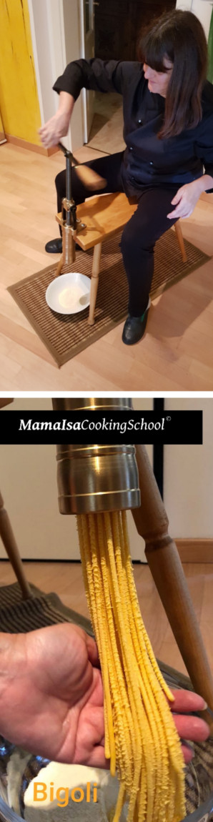 Bigoli at Mama Isa's Cooking School